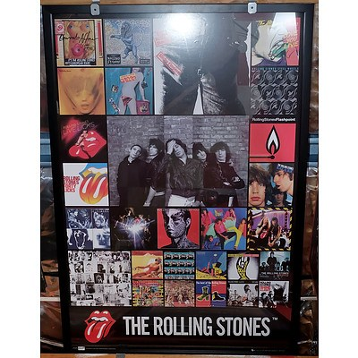 Two Framed Rolling Stones Presentations