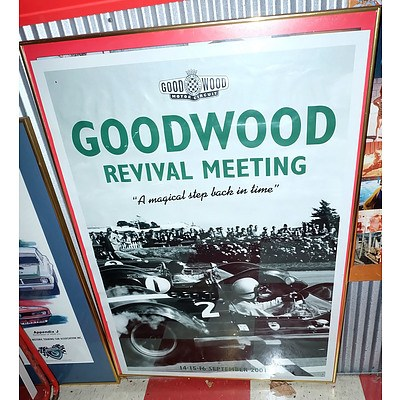 Goodwood Race Meeting 2001 Poster and a Castrol Historic Touring Car Cup 2002 Poster