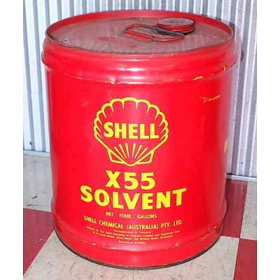 Vintage Shell x55 Solvent Drum
