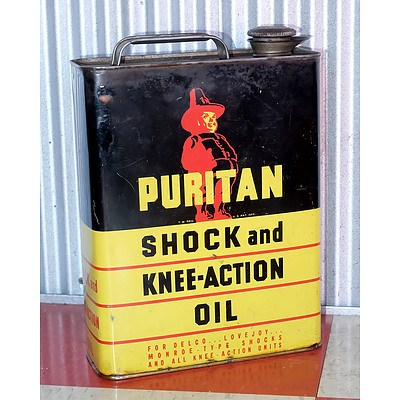 Vintage Puritan 1 Gallon Oil Drum