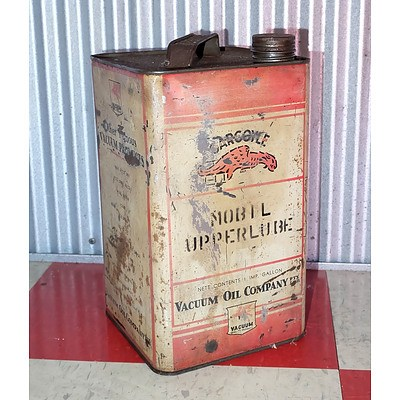 Vintage Vacuume 1 Imperial Gallon Oil Drum