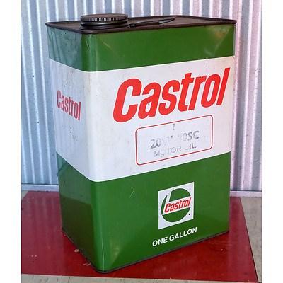 Vintage Castrol 1 Gallon Oil Drum