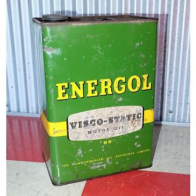 Vintage Energol 1 Gallon Oil Drum