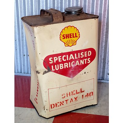 Vintage Shell 1 Gallon Oil Drum