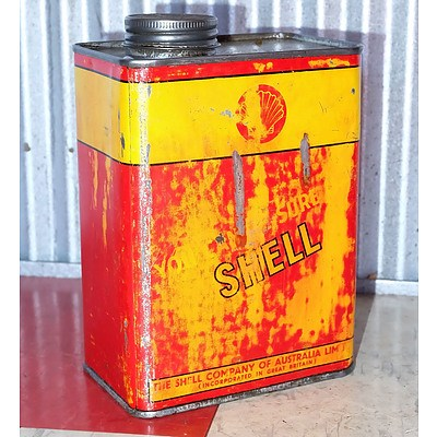 Vintage Shell 1 Quart Oil Can
