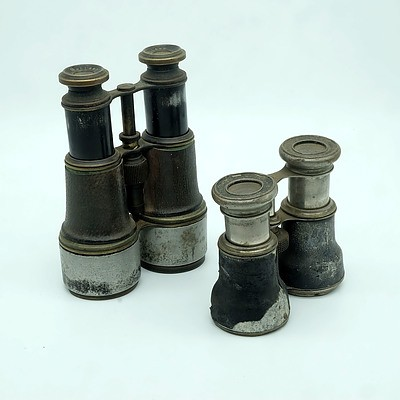 Two Pairs of Binoculars Including Dollond and Wallace Jones