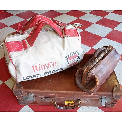 Three Vintage Bags Including Winston Loves Racing and More
