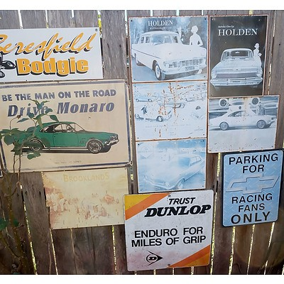 Assorted Holden, Dunlop and Other Signs - Lot of 12