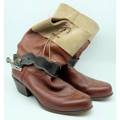 RM Williams Leather Cowboy Boots Size 12