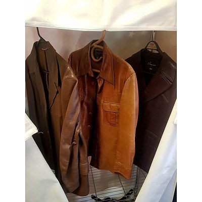 Three Leather Jackets Including a Don Lorenzo, Salamander and Other