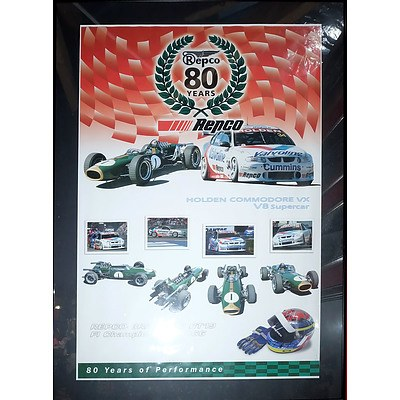 Large Repco 80 Years of Performance Poster