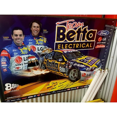Team Betta Electrical Signed Poster Signed by Craig Lowndes