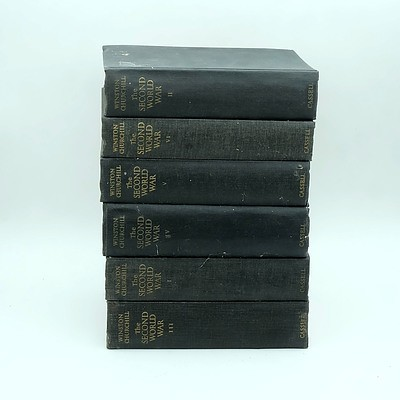Six Volumes of Winstons Churchill The Second World War