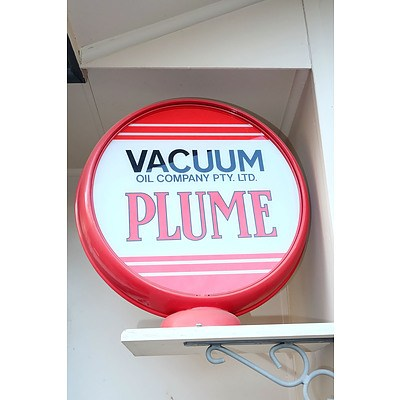 Plume Vacuum Oil Company Bowser Top