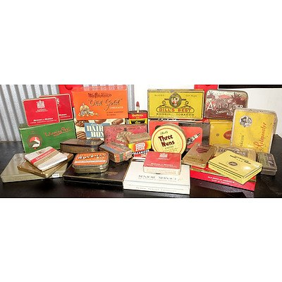 Large Group of Vintage Tins and Chocolate Boxes