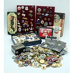 Large Group of Antique and Vintage Military and Automotive Badges, Pins and More