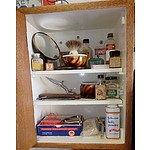 Vintage Gentleman's Cabinet Including The Hamburg Ring Cutthroat, Bex Tablet Tin and More