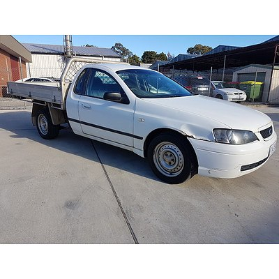 3/2005 Ford Falcon XL BA C/chas White 4.0L
