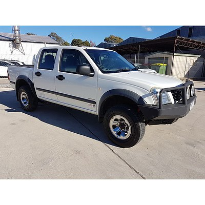 12/2005 Holden Rodeo LT RA MY05.5 UPGRADE Crew Cab P/up White 3.5L