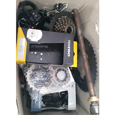 Bike Accesories - Assorted Lot Of Accesories & parts Including Bars, Locks, Sprockets & More.