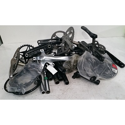 Mountain Bike & Road Bike Assorted Parts Lot - Including Cranks, Sprockets & Chains.