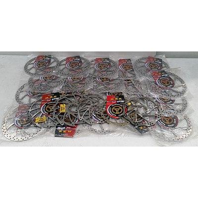 Mountain Bike Disc Rotor, Rear Shock & Rim Lot