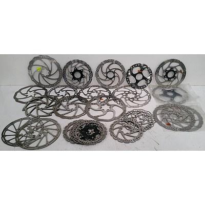 Assorted Mountain Bike & Road Bike Brake Discs.