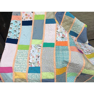 """Handmade quilt: """"The Wonky Quilt"""""""