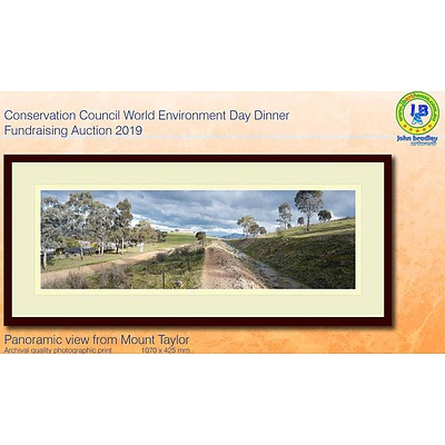 Archival quality framed print by John Bradley: Panoramic view from Mount Taylor