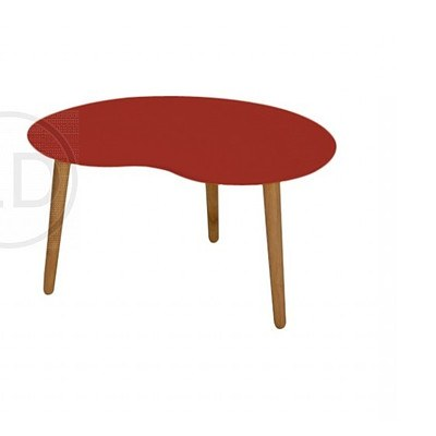 Line Design Red Palate Table - Brand New