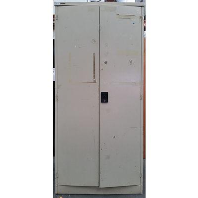 Brownbuilt Metal Two Door Storage Cabinet