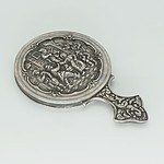 Dutch Silver Miniature Vanity Mirror