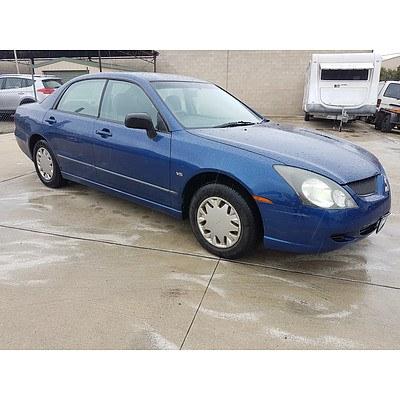 7/2003 Mitsubishi Magna ES TL 4d Sedan Blue 3.5L