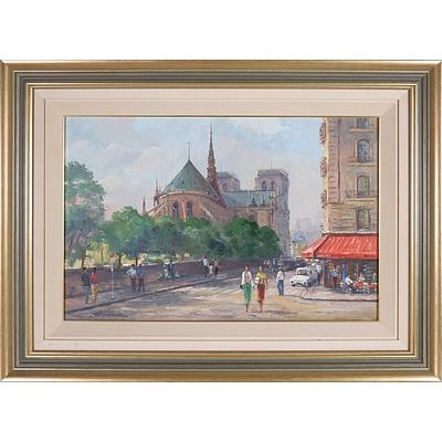 Ingo Otto Kuster (1941-) The Notre Dame - Paris 1975 Oil on Board