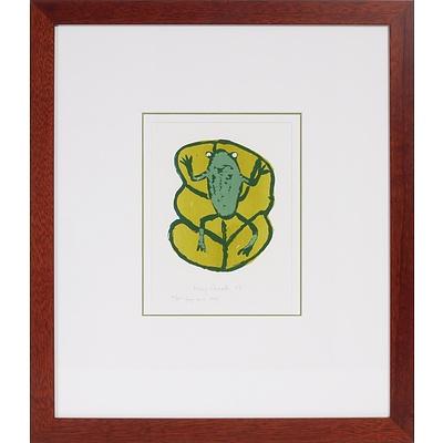 Kay Creek (1949-) Frog on a Leaf 2007, Screenprint Edition 21/50