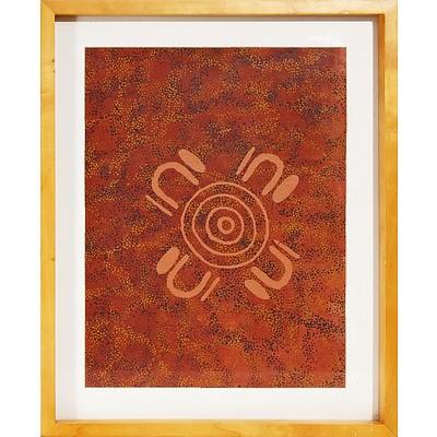 Kamahi Djordon King (Gurindji 1972-) Womens Business 2005, Acrylic on Canvas