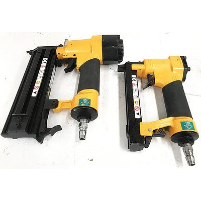 Super Works Tool Bag with 2 Super Works Pneumatic Nail Guns
