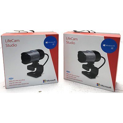 Microsoft LifeCam Studio for Windows 10 - Lot of 2 Brand New - RRP Over $160