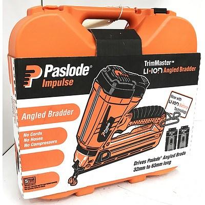 Paslode TrimMaster Impulse IM250A-Li Angled Bradder - RRP $849 - Brand New