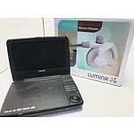 Philips Portable DVD Player & Brand New Lumina Steam Cleaner