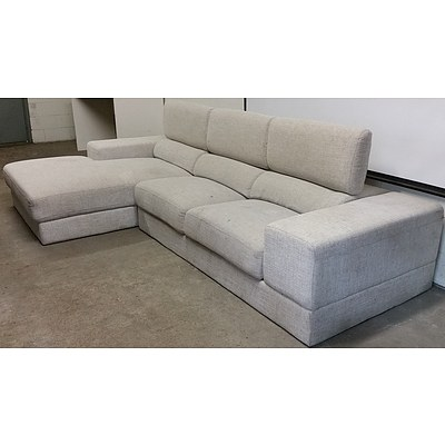 Contemporary Three Seater Chaise Lounge