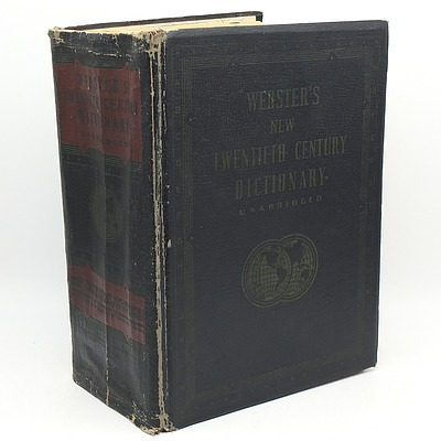 Vintage Webster's New 20th Century Dictionary Unabridged