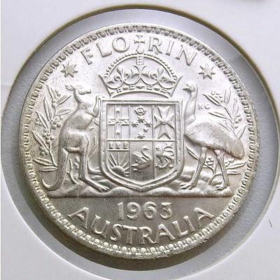 Australia Silver Florin 1963