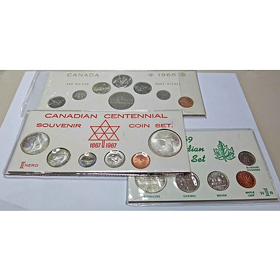 Canada Cased Coin Sets (x3)