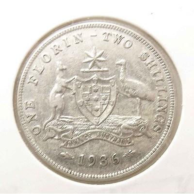 Australia George V Silver Florin 1936