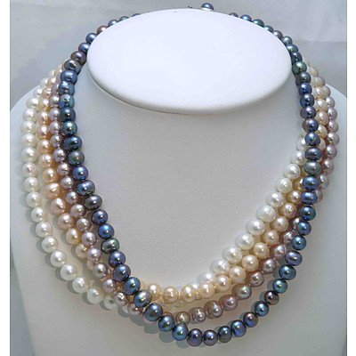 Collection of 4 Pearl Necklaces