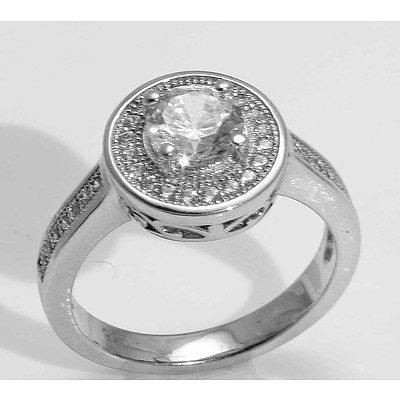Sterling Silver CZ-set Ring