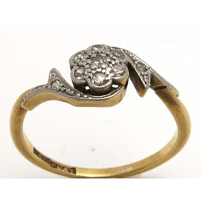 Vintage Diamond Ring - 18ct Gold, Platinum