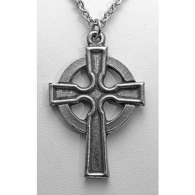 Celtic Pewter Cross Pendant