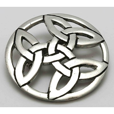 Celtic Pewter Brooch